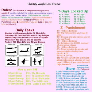 Chastity Weight Loss Trainer Roulette