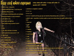 sissy cock whore exposure