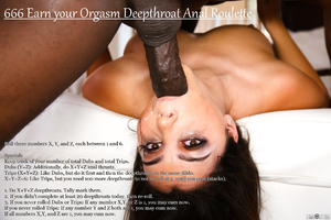 666 Earn your Orgasm Deepthroat Anal Roulette