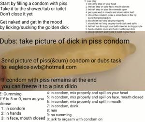 Simple piss/cumplay