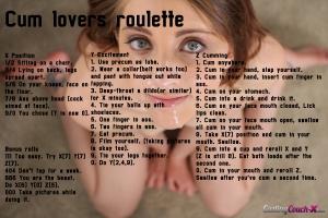 Cum lovers fap roulette