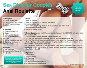 Sex Dice for Couples: Anal Roulette