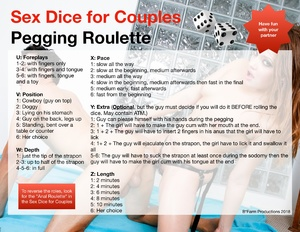 Sex Dice for Couples: Pegging Roulette
