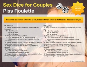 Sex Dice for Couples: Piss Roulette