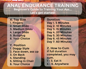 Anal Endurance Training