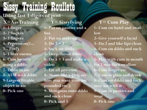 sissy training roulette
