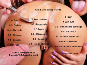 Anal & Cum eating roulette