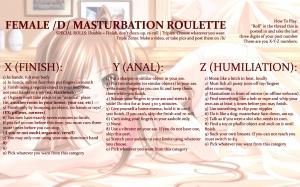 female masturbation roulette femanon