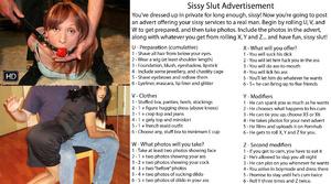 Sissy Slut Advertisement