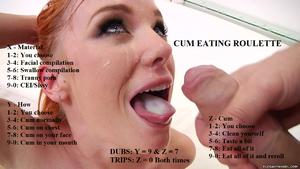 Simple cum eating