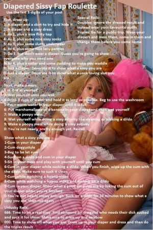 diapered sissy fap roulette