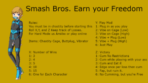 Smash Bros. Earn Your Chastity Freedom