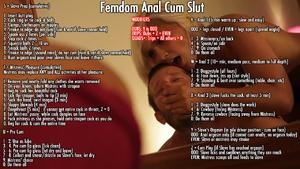 Femdom Anal Cum Slut