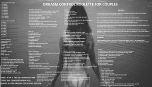 Orgasm control roulette for couples
