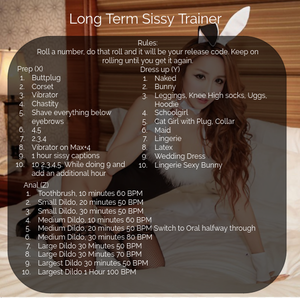 Long term Sissy trainer