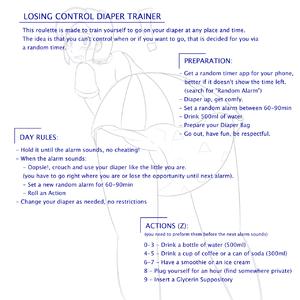 Losing control diaper trainer