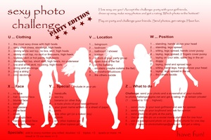 sexy photo challenge - party edition