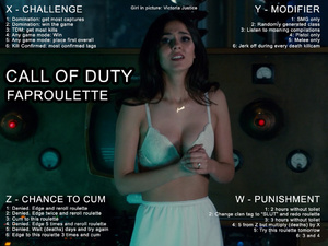 Call of Duty Faproulette with Victoria Justice