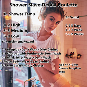 Shower Slave Denial Roulette