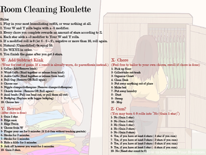 Room cleaning (Or other chores) Roulette
