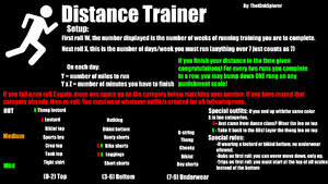 Distance running trainer