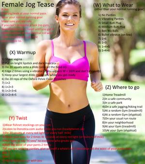 Female Jogging Tease