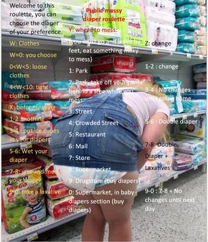 Public messy diaper roulette