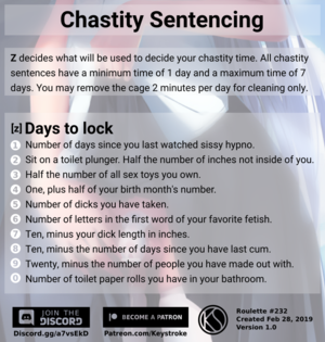 Chastity Sentencing