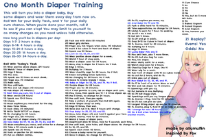 One Month Diaper Training