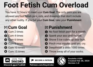Foot Fetish Cum Overload