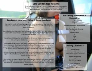 Solo Car Bondage