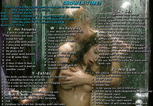 Couple Shower Sex Challenges and Dares
