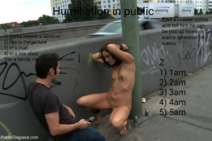 Humiliation in public