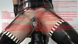 Sissy Chastity & Anal fun day challenge