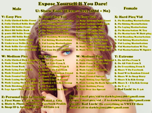 Expose yourself If You Dare!