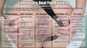 Cum Lovers Anal Fap Roulette Dildo Edition with Ass to Mouth