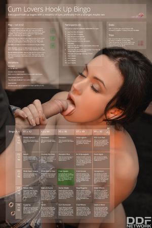 Cum Lovers Hook Up Bingo