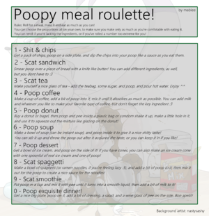 Poopy meal roulette!