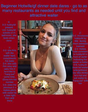 Beginner hotwife dinner dares