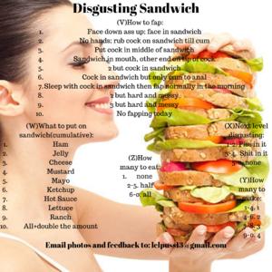 Weird Gross sandwich roulette